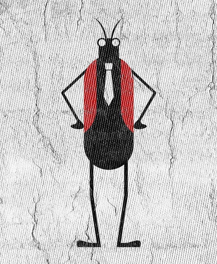 Elegancki krykieta insekt ilustracja wektor