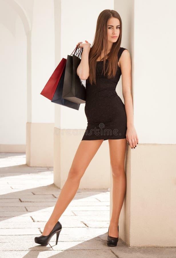 Elegancki kupujący. zdjęcie royalty free