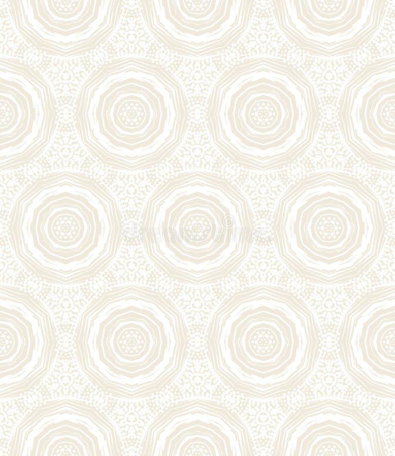 Elegancki kurenda wzór w bielu royalty ilustracja