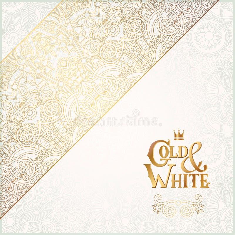 Elegancki kwiecisty ornamentacyjny tło z ilustracji