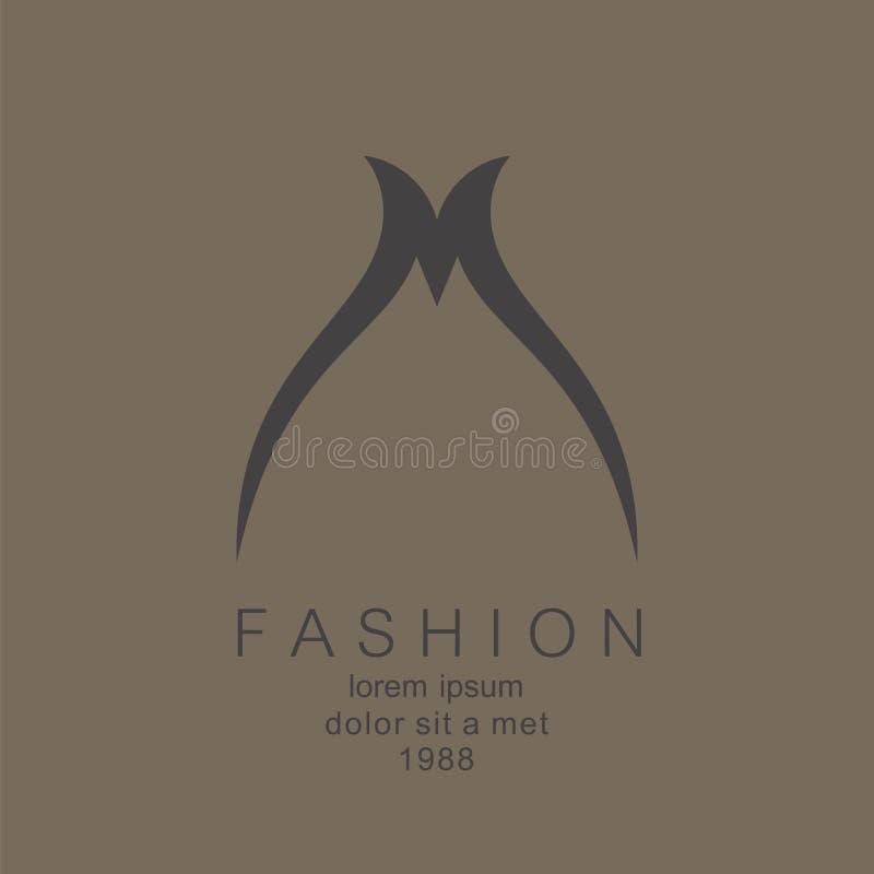 Elegancki listu M logo ilustracji