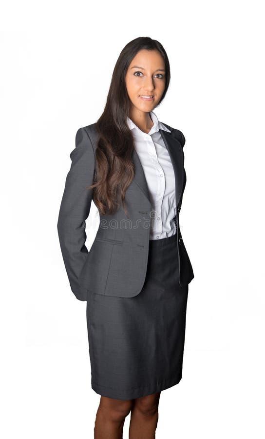 Elegancki młody Indiański bizneswoman obraz stock
