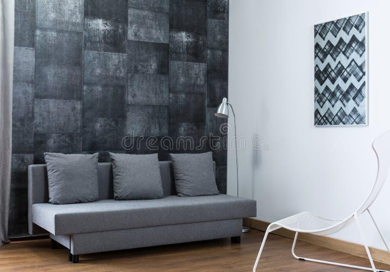 Elegancki meblujący żywy pokój zdjęcia royalty free