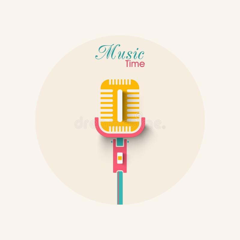 Download Elegancki Mikrofon Dla Muzyki Ilustracji - Ilustracja złożonej z rozrywka, musical: 53777791