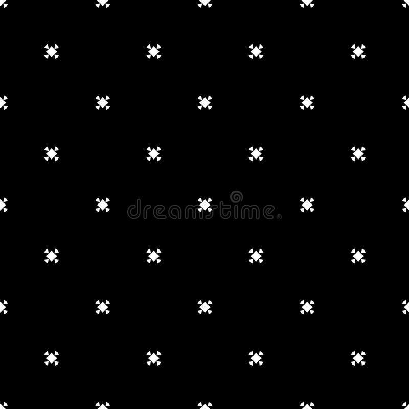 Elegancki Minimalistic Czarny I Biały Bezszwowy ilustracja wektor