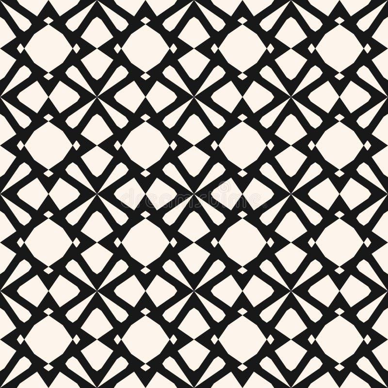 Elegancki monochromatyczny ornament z siatką, kratownica, siatka, sieć, diament kształtuje ilustracji