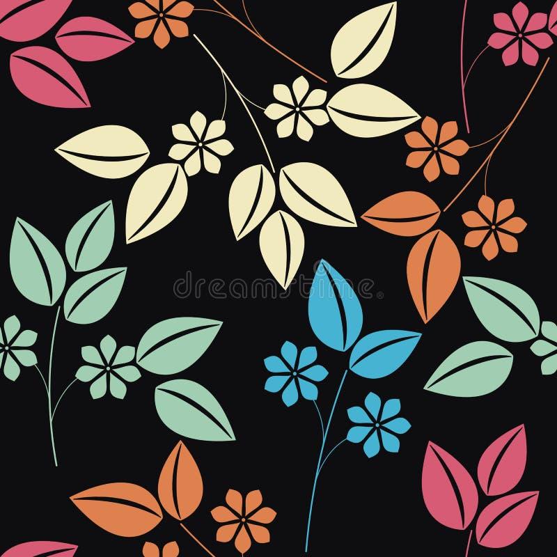 Elegancki niekończący się wzór z kolorowym kwiecistym bukietem ilustracji