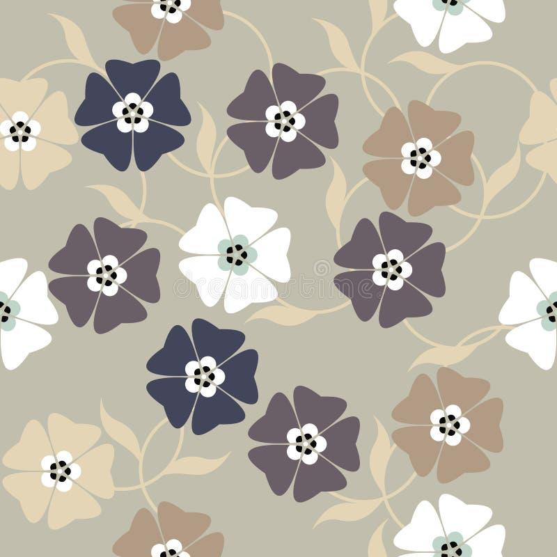 Elegancki niekończący się wzór z wiosna kwiatami royalty ilustracja