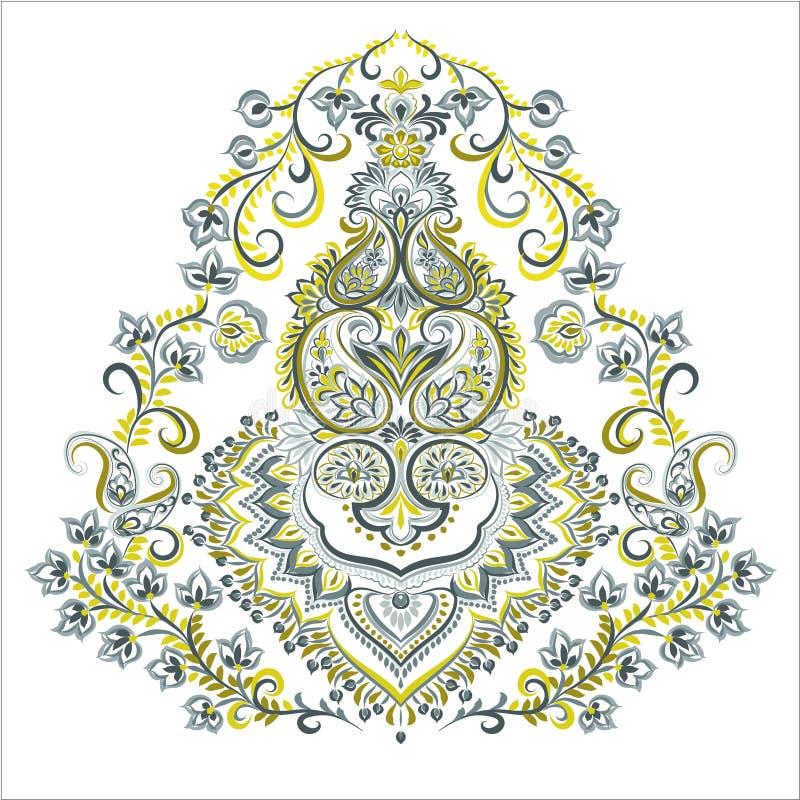Elegancki Paisley wektoru element ilustracja wektor