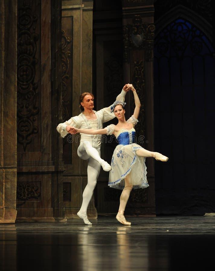 Elegancki Pas De deux-The baleta dziadek do orzechów obraz stock