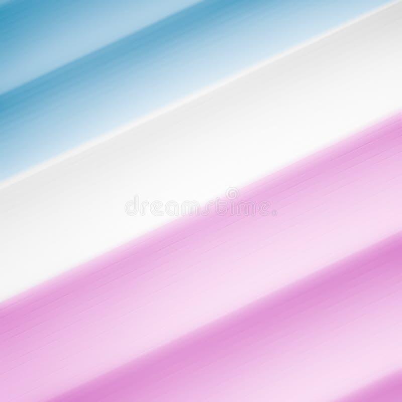 Elegancki pasiasty błękitny, biały i purpurowy tło wzoru fading w biel przestrzeń, royalty ilustracja
