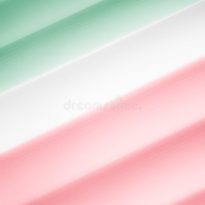 Elegancki pasiasty zieleni, bielu i czerwieni tło, deseniuje fading w biel przestrzeń ilustracja wektor
