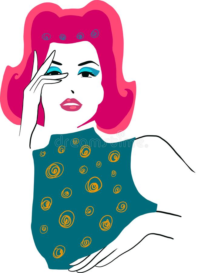 Elegancki pi?kny model dla moda projekta Szpilka w g?r? graficznej ilustraci royalty ilustracja