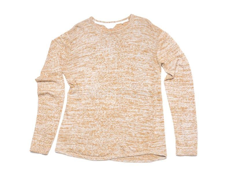 Elegancki pulower na białym tle fotografia stock