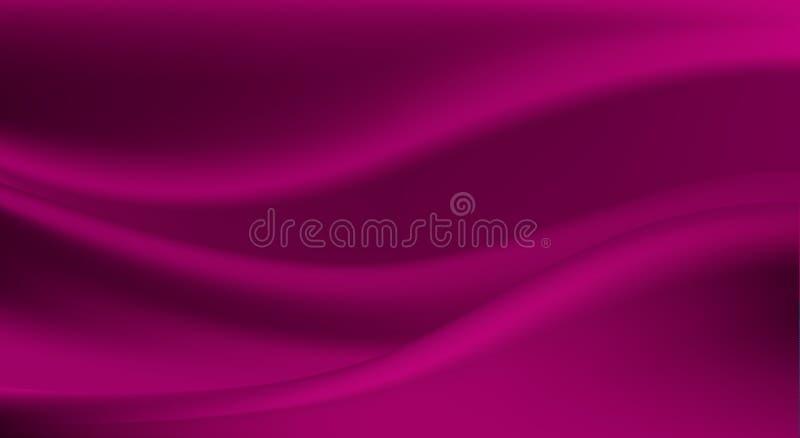 Elegancki purpurowy jedwab, atłasowy luksusowy płótno royalty ilustracja