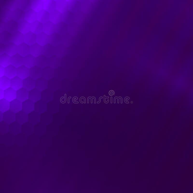 Elegancki Purpurowy tło Artsy Abstrakcjonistyczni tła Deseniowa ilustracja Błękitny Graficzny rendering Prosty Honeycomb wzór ilustracji
