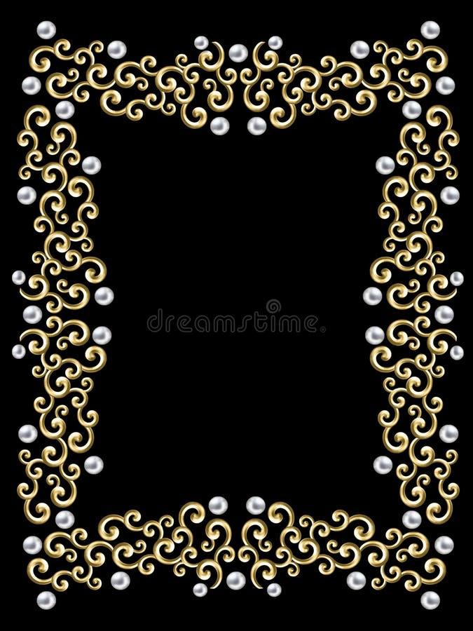 elegancki ramowy rocznik przeciw - wirowe zdjęcie stock