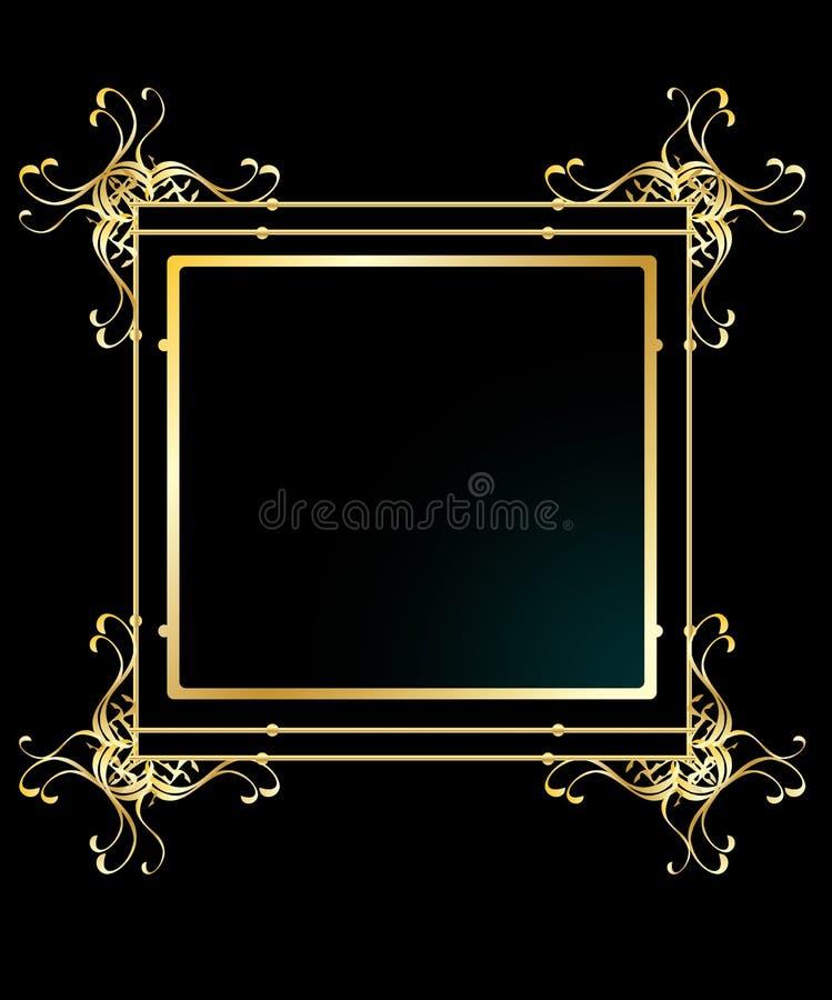elegancki ramowy tła złoto ilustracja wektor