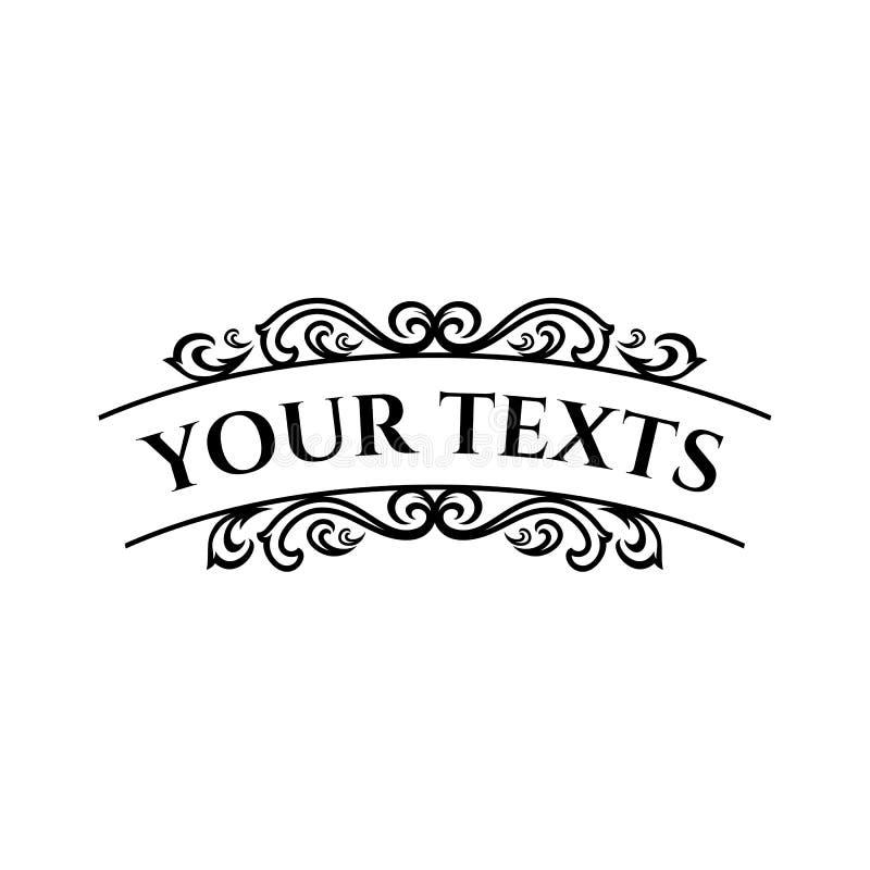 Elegancki retro zawijasa wystrój Retro rocznik insygnie, logotypy lub Wektorowi projektów elementy, biznes podpisują, logowie, to royalty ilustracja
