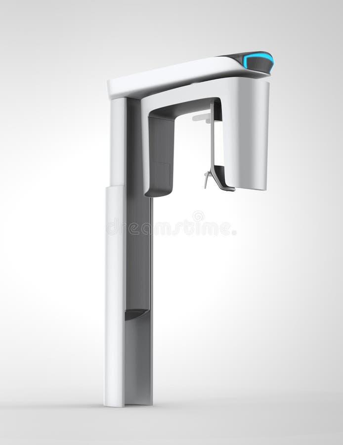 Elegancki stomatologiczny CBCT z błękita światła wskaźnikiem royalty ilustracja