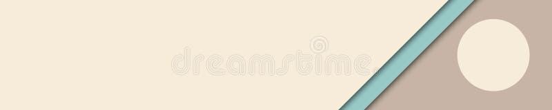 Elegancki sztandaru beż, brąz i turkusów kolory dla strony internetowej, royalty ilustracja