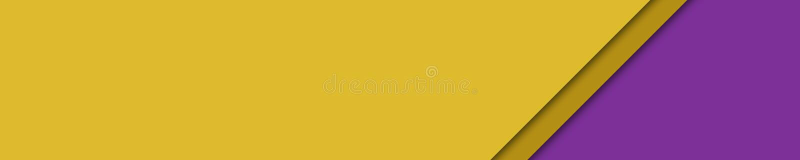 Elegancki sztandaru kolor żółty, brąz i bzów kolory dla strony internetowej, ilustracja wektor
