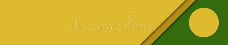 Elegancki sztandaru kolor żółty, brąz i zieleni kolory dla strony internetowej, royalty ilustracja