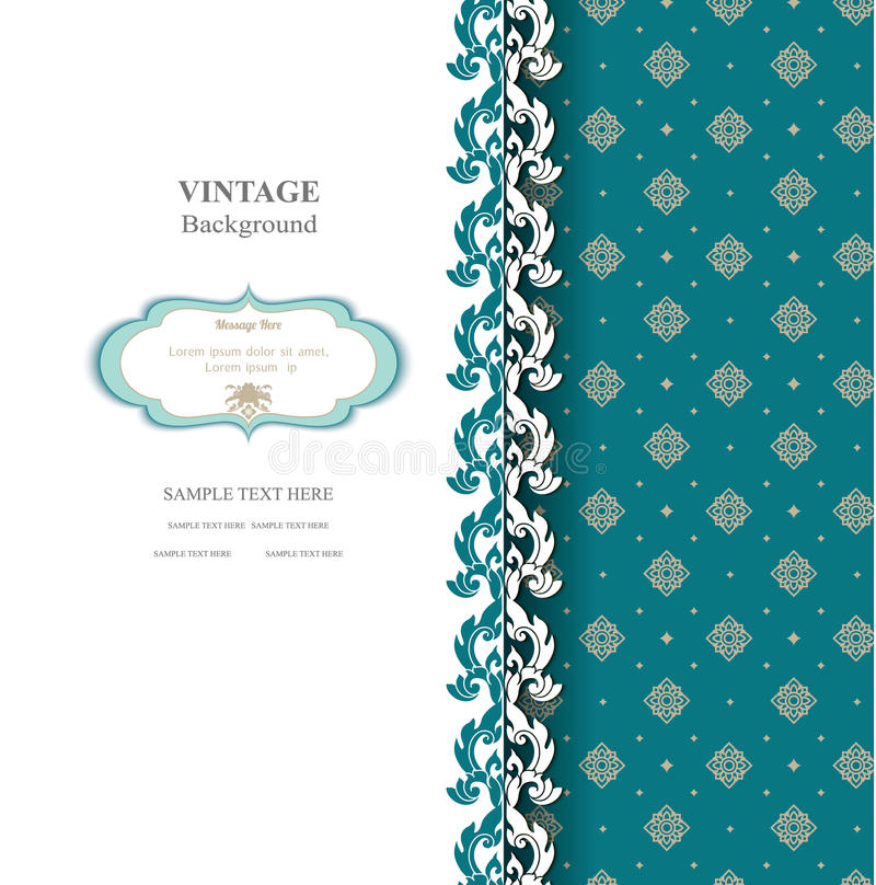 Elegancki tło z koronkowym ornamentem i miejsce dla teksta ilustracji