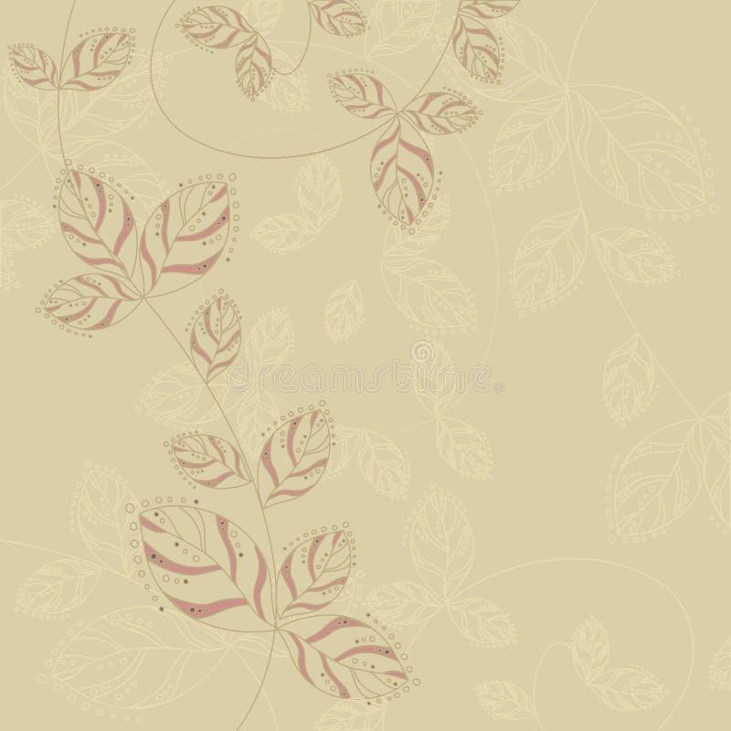 Elegancki tło z ulistnieniem obrazy royalty free