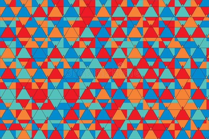 Elegancki trójboka wzór royalty ilustracja