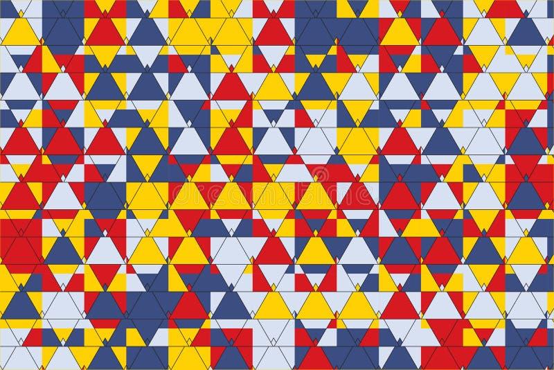 Elegancki trójboka wzór ilustracji