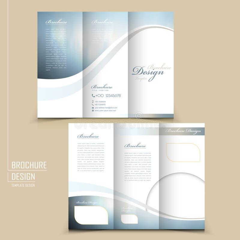 Elegancki trifold szablonu projekt royalty ilustracja