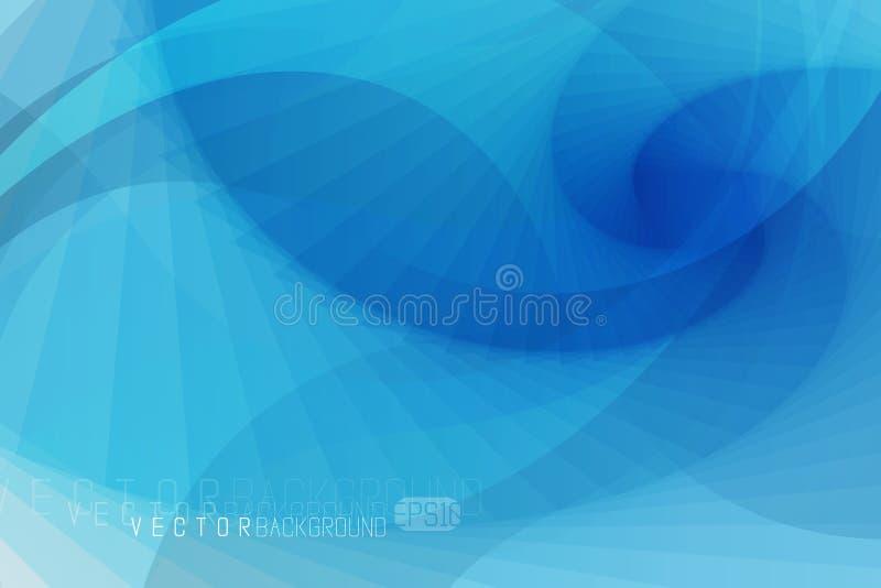 Elegancki wektorowy abstrakcjonistyczny tło abstrakcjonistyczna tła błękit fala Tło w zimnie barwi z światłem i cienia skutkiem royalty ilustracja