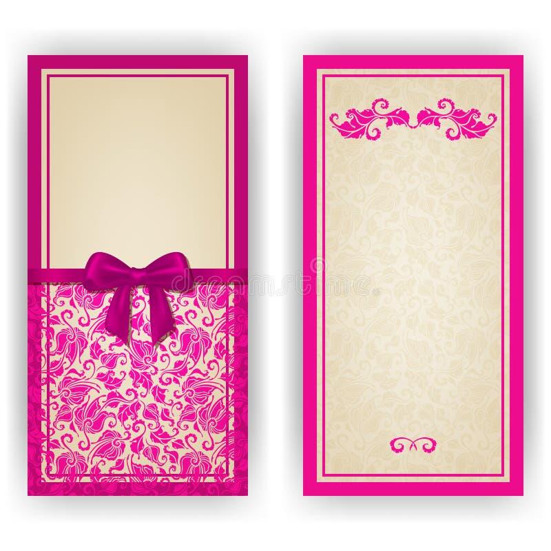 Elegancki wektorowy szablon dla luksusowego zaproszenia, ilustracji
