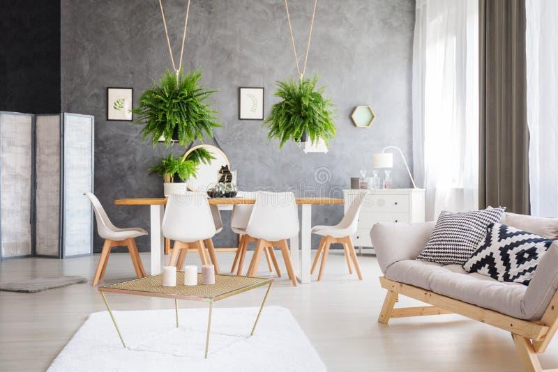 Elegancki wnętrze mieszkanie zdjęcia royalty free