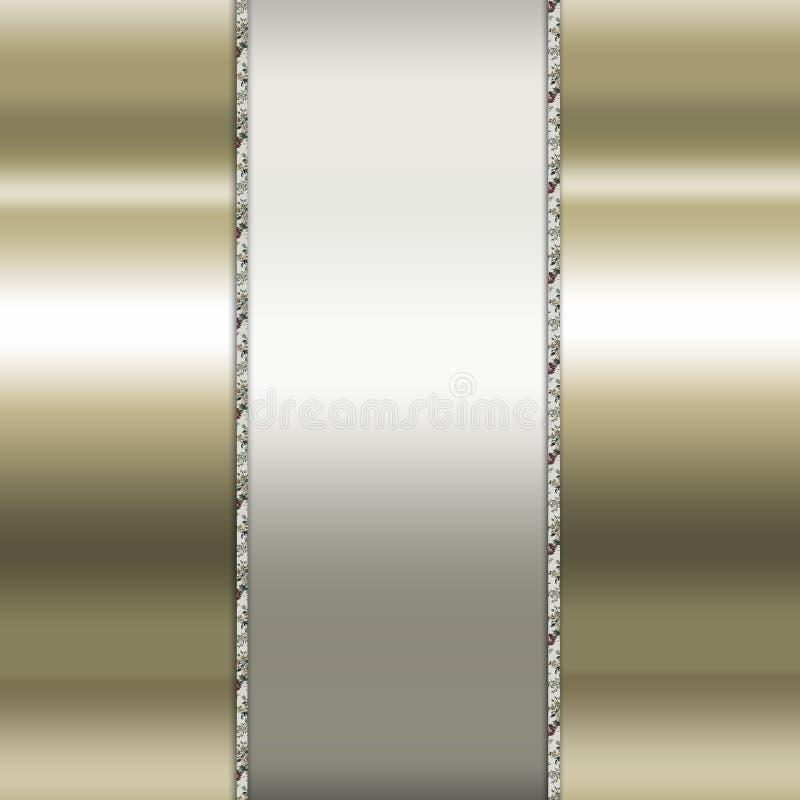Elegancki złoto i brown tło ilustracja wektor