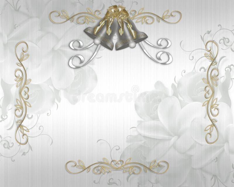 elegancki zaproszenia atłasu ślub ilustracji