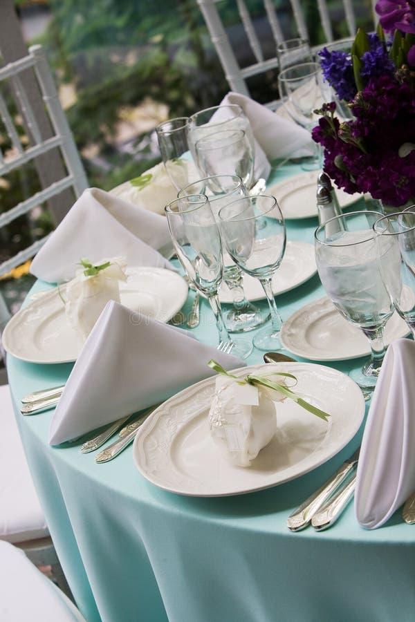 eleganckich przysług stołowy ślub fotografia stock