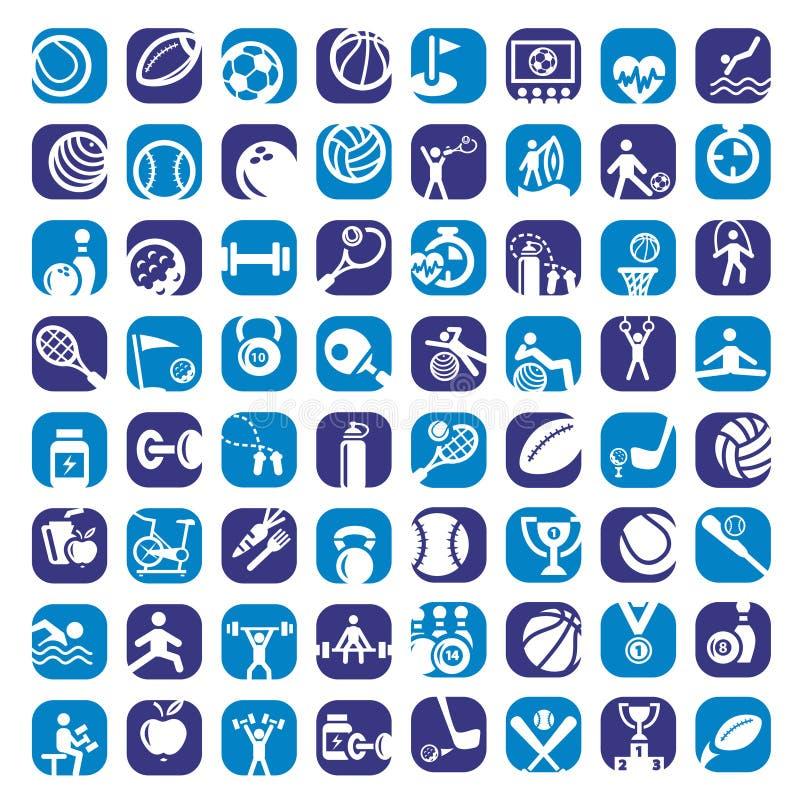 Kolor bawi się ikony ustawiać ilustracji