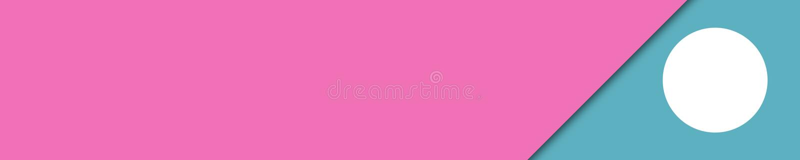 Eleganckie sztandar menchie i turkusów kolory dla strony internetowej ilustracja wektor