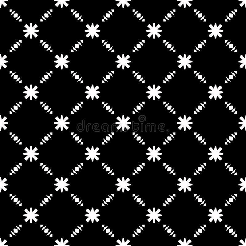 Eleganckiego Czarny I Biały kwiatu Bezszwowy wzór royalty ilustracja