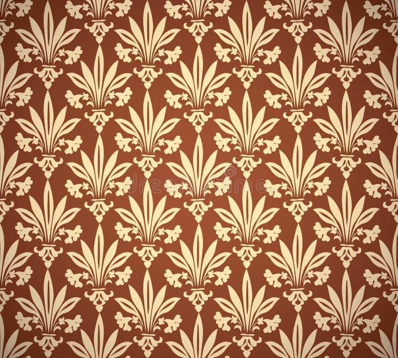 Eleganckiego rocznika kwiecisty bezszwowy wzór royalty ilustracja