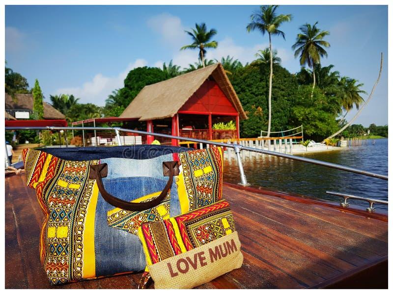 Eleganckiego torby unikalnego création z kości słoniowej wybrzeże obraz royalty free
