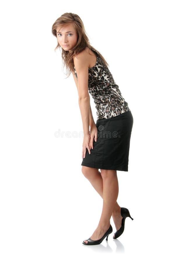 Download Eleganckiej Kobiety Potomstwa Obraz Stock - Obraz złożonej z wyrażenie, szczęśliwy: 13337443