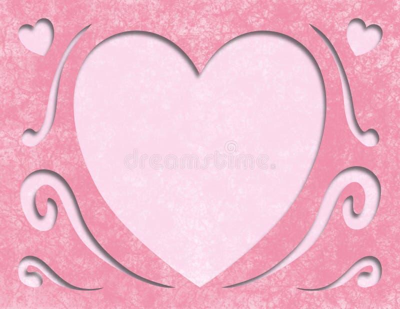 Eleganckiej Różowej matka dnia serca karty Pusta przestrzeń zdjęcie stock