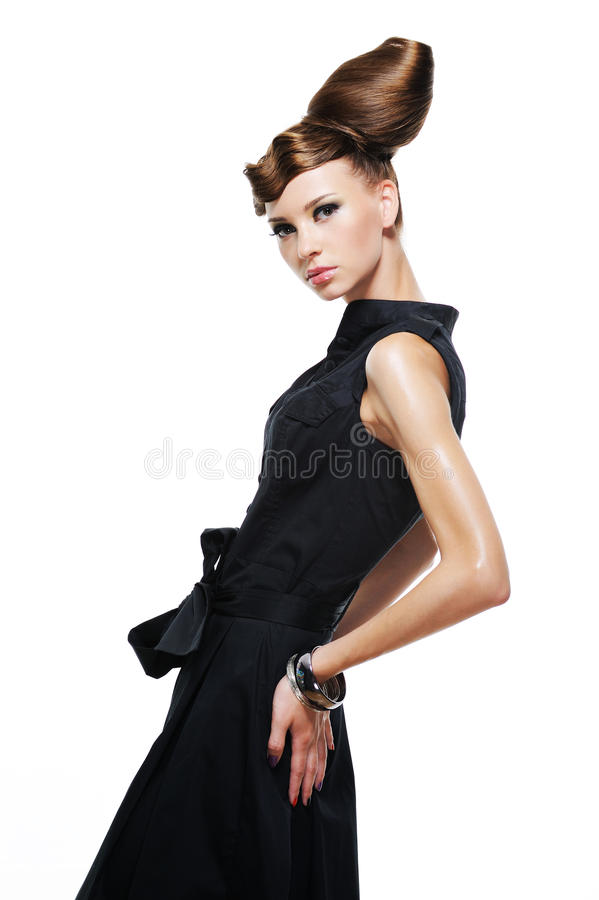 Elegancy stylish glamour girl stock image