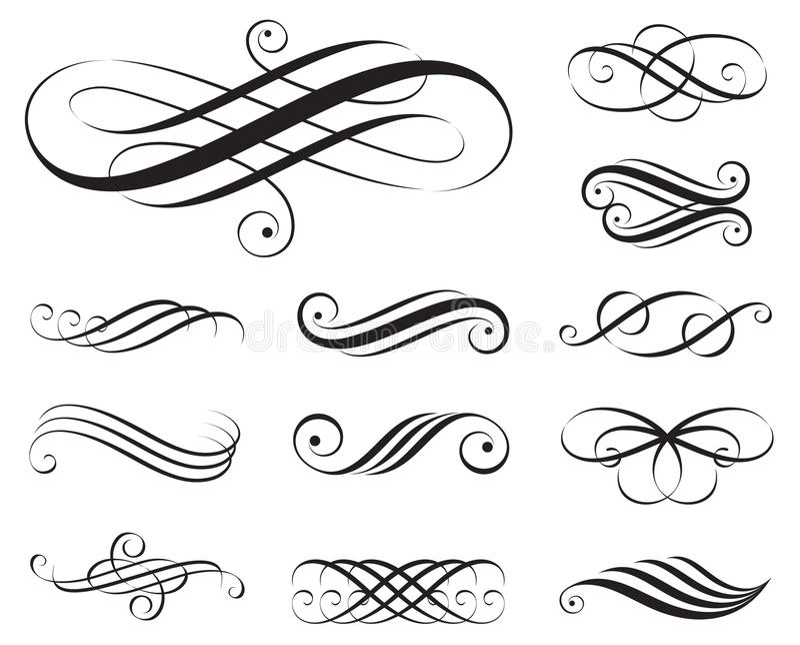 eleganselement royaltyfri illustrationer