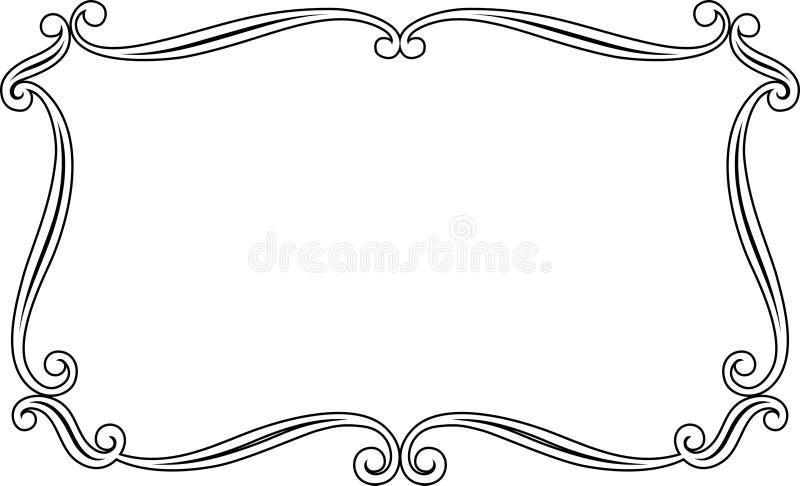 elegansramvektor royaltyfri illustrationer