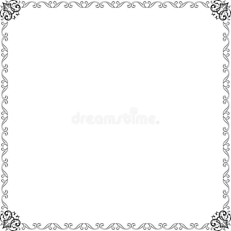 elegansramvektor vektor illustrationer