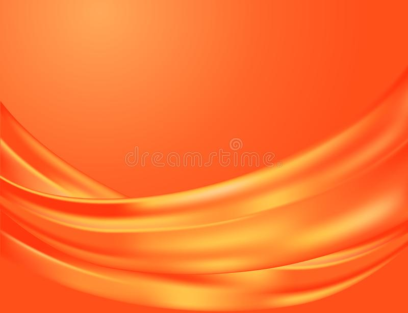 Folds of a silk of red color. Elegant abstract background made of graceful folds of a silk fabric in red and orange colors vector illustration